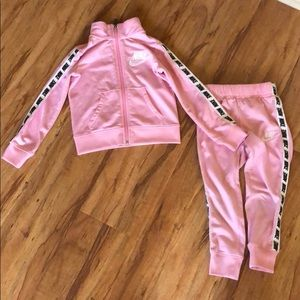 EUC Nike Pink Logomania Tracksuit